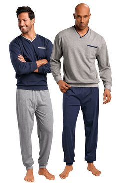 le jogger, pyjama (set van 2), lang multicolor