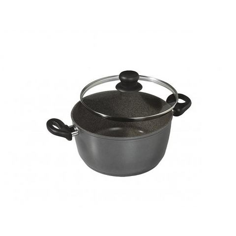STONELINE Pan met glazen deksel