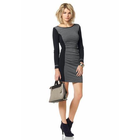 NU 15 KORTING LAURA SCOTT Tricot jurk in colourblocking look