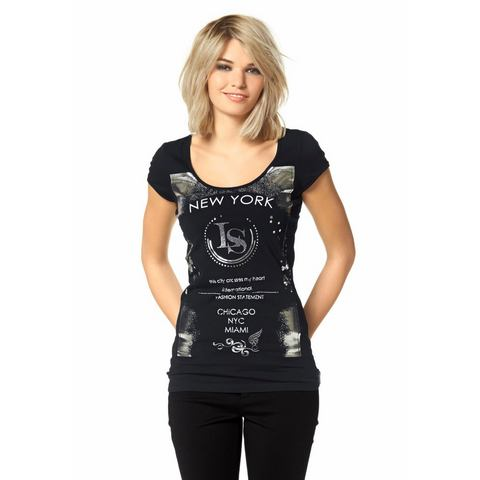 LAURA SCOTT T-shirt met glansprint