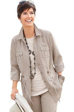 blouse-jasje in linnen-look grijs