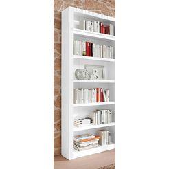 boekenkast, aanbouwelement, breedte 81 cm wit