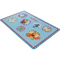 kindervloerkleed »ls-202« de vrolijke 7 blauw