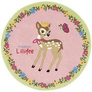 vloerkleed, prinses lillifee, »li-2935-01«, handgetuft, gesneden relifpatroon, briljante kleuren roze