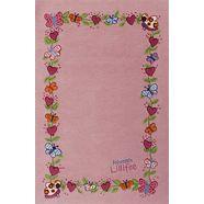 vloerkleed, prinses lillifee, »li-2153-01«, handgetuft, gesneden relifpatroon, briljante kleuren roze
