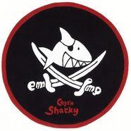 kindervloerkleed, rond, capt'n sharky, »sh-2360-01«, handgetuft, gesneden contouren zwart
