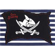 kindervloerkleed, capt'n sharky, »h-2991-01«, handgetuft, gesneden relifpatroon zwart