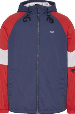 tommy jeans windbreaker »tjm mix fabric zipthrough« blauw