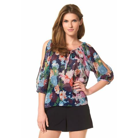 ANISTON Chiffon-blouse in tuniekstijl