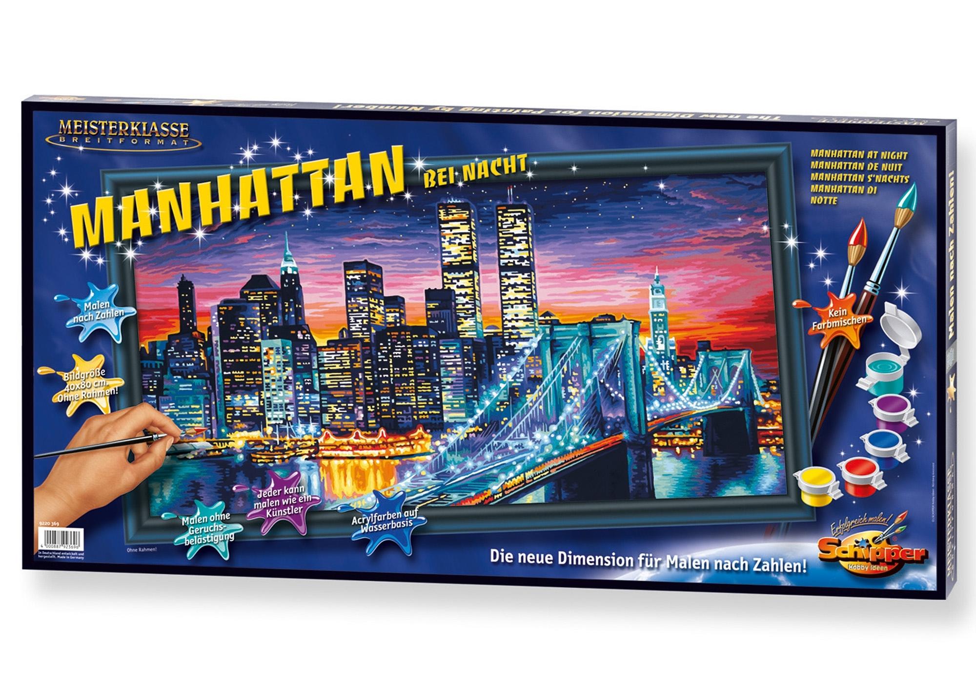Schipper schilderen op nummer Meesterklasse breed formaat - Manhattan bij nacht made in germany - verschillende betaalmethodes