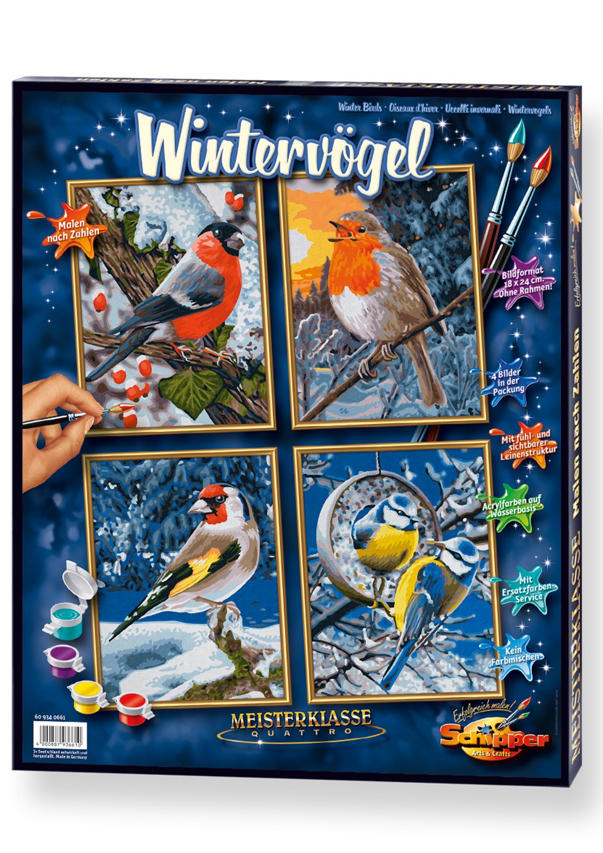 Schipper Schilderen op nummer Wintervogels - verschillende betaalmethodes
