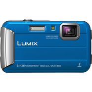 panasonic lumix dmc-ft30 outdoor camera, 16,1 megapixel, 4x opt. zoom, 6,7 cm display blauw