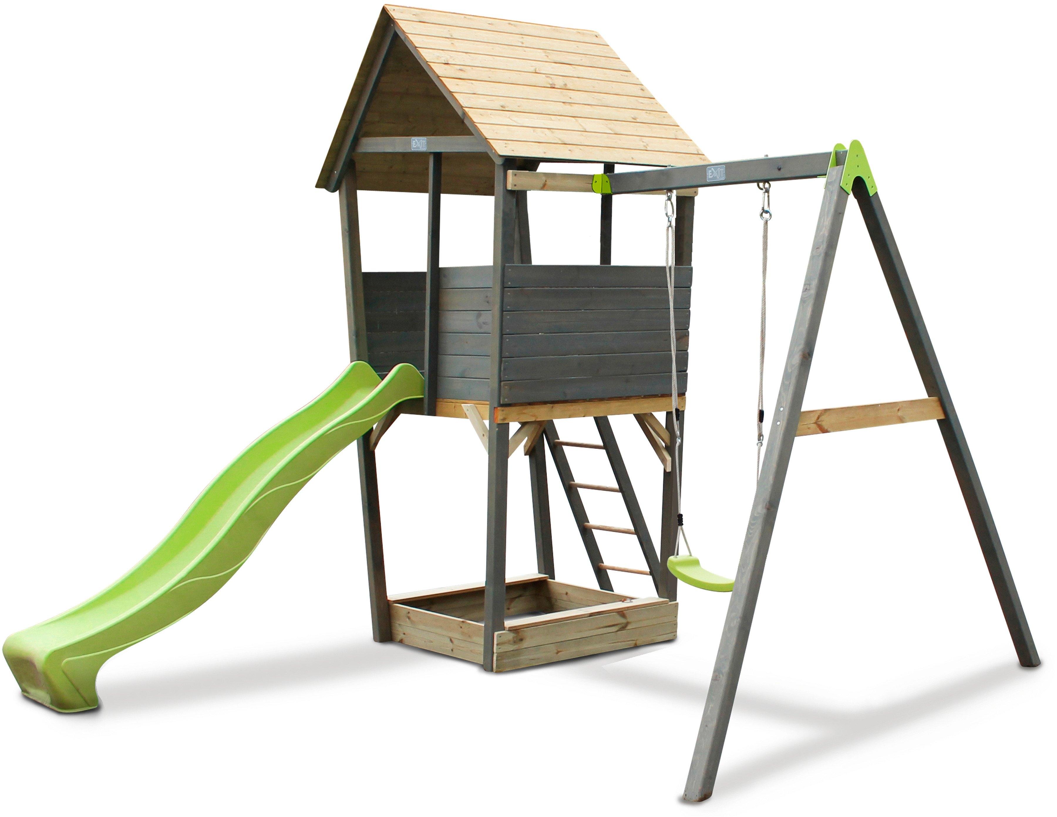 Exit Speeltoren »Aksent«, Bxhxd: 320x296x323 cm, enkele schommel + glijbaan in de webshop van OTTO kopen