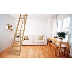 starwood ruimtebesparende trap »olympus«, b: 60 cm, vurenhout, inclusief houten leuning 2014