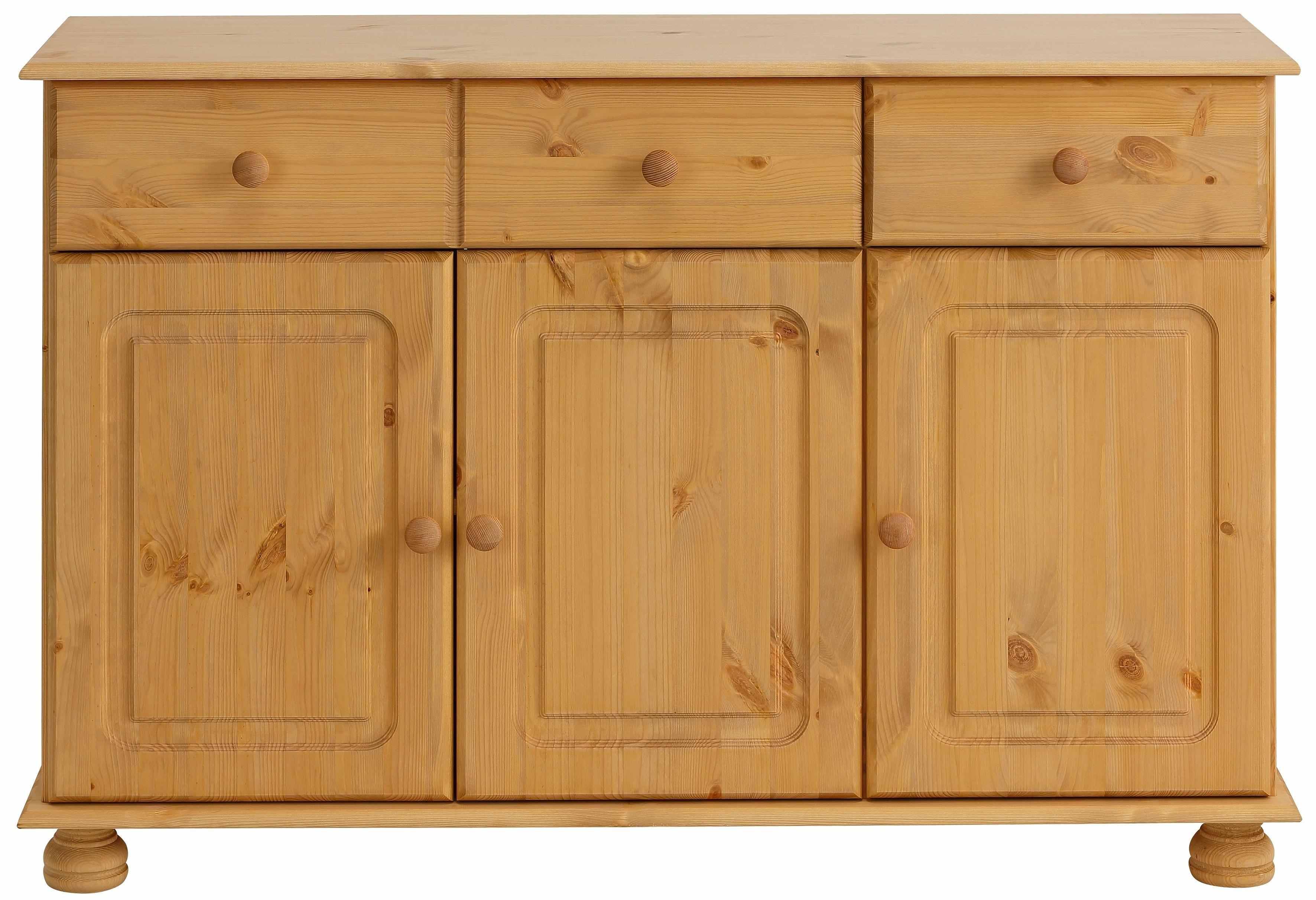 Home affaire dressoir Mette met gefreesde, bolvormige poten, breedte 120 cm nu online bestellen