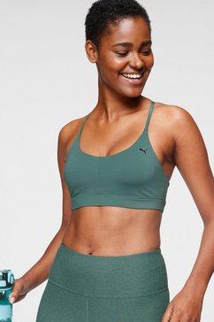 puma sport-bh low impact strappy bra pd groen