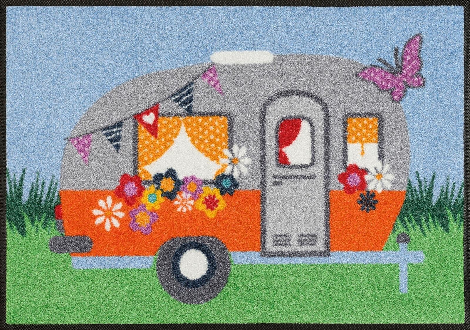 wash+dry by Kleen-Tex mat Happy Camping Inloopmat in de webshop van OTTO kopen