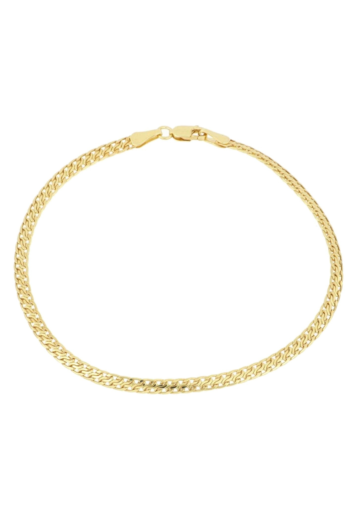 Firetti goudkleurige armband Met pantserschakels, 3,2 mm breed, geribbelde gediamanteerde verwerking, glans-look nu online kopen bij OTTO