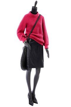 classic inspirationen trui met staande kraag rood