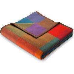 biederlack deken colormix met gekleurde ruitjes multicolor