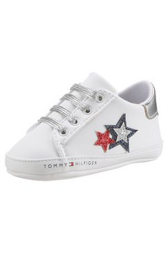 tommy hilfiger sneakers met elastiekjes wit