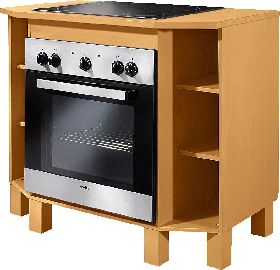 Home affaire ombouwkast voor oven Oslo 100 cm breed, in 2 diepten, van massief grenen, met 23 mm dik werkblad, met 6 vakken online kopen op otto.nl