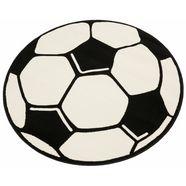 ecorepublic home geweven kinder-vloerkleed voetbal wit