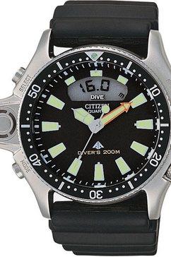 citizen duikhorloge promaster marine aqualand, jp2000-08e zwart