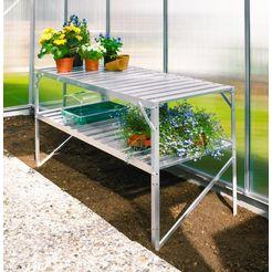 vitavia plantentafel voor tuinkassen, bxdxh: 121x54x76 cm, aluminiumkleur zilver