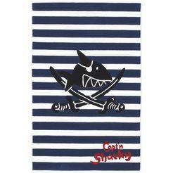 kindervloerkleed, capt'n sharky, »sh-2361-01«, handgetuft, gesneden relifpatroon blauw