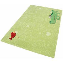 sigikid vloerkleed voor de kinderkamer happy zoo crocodile groen