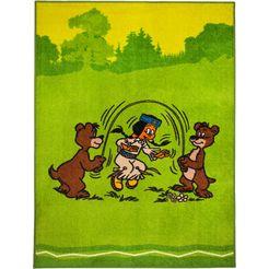 kindervloerkleed, yakari, »regenboog en beren«, yakari groen