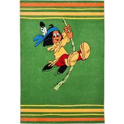 yakari vloerkleed voor de kinderkamer avontuur met yakari met de hand gesneden relifpatroon, kinderkamer groen