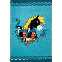 yakari vloerkleed voor de kinderkamer de beste vrienden blauw