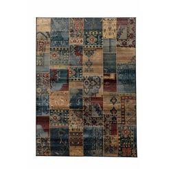 oriental weavers vloerkleed idfu orint-look, woonkamer blauw