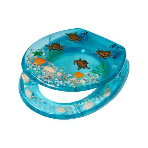 Badkameraccessoires Toiletzitting Schildpadden 369450 blauw