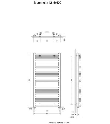 Sanitair Designradiator Mannheim 397605