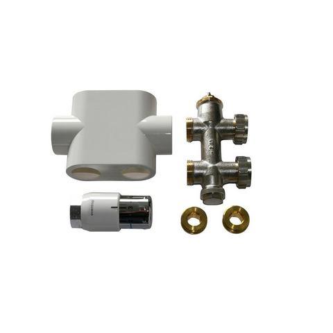 Sanitair Badkamerradiator Passeerkoppeling Universal wit 821960
