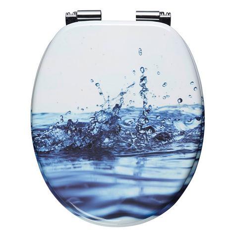 Badkameraccessoires Toiletzitting Waterdruppels 836639 wit