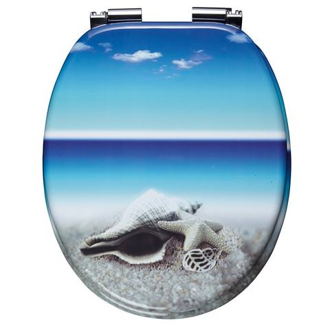 Badkameraccessoires Toiletzitting Snail 238901 blauw