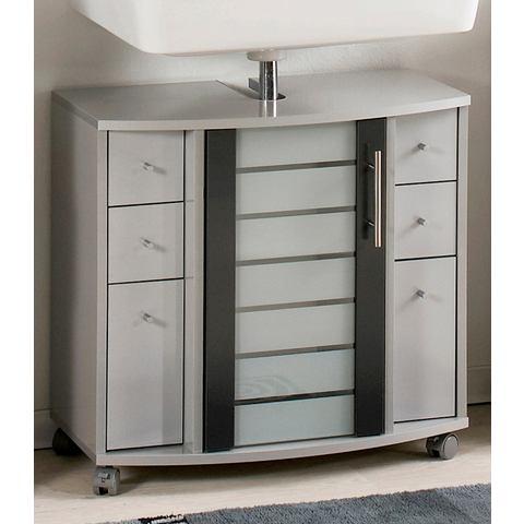 SCHILDMEYER Wastafelkast Nikosia zilverkleurige badkamer wastafelonderkast 6