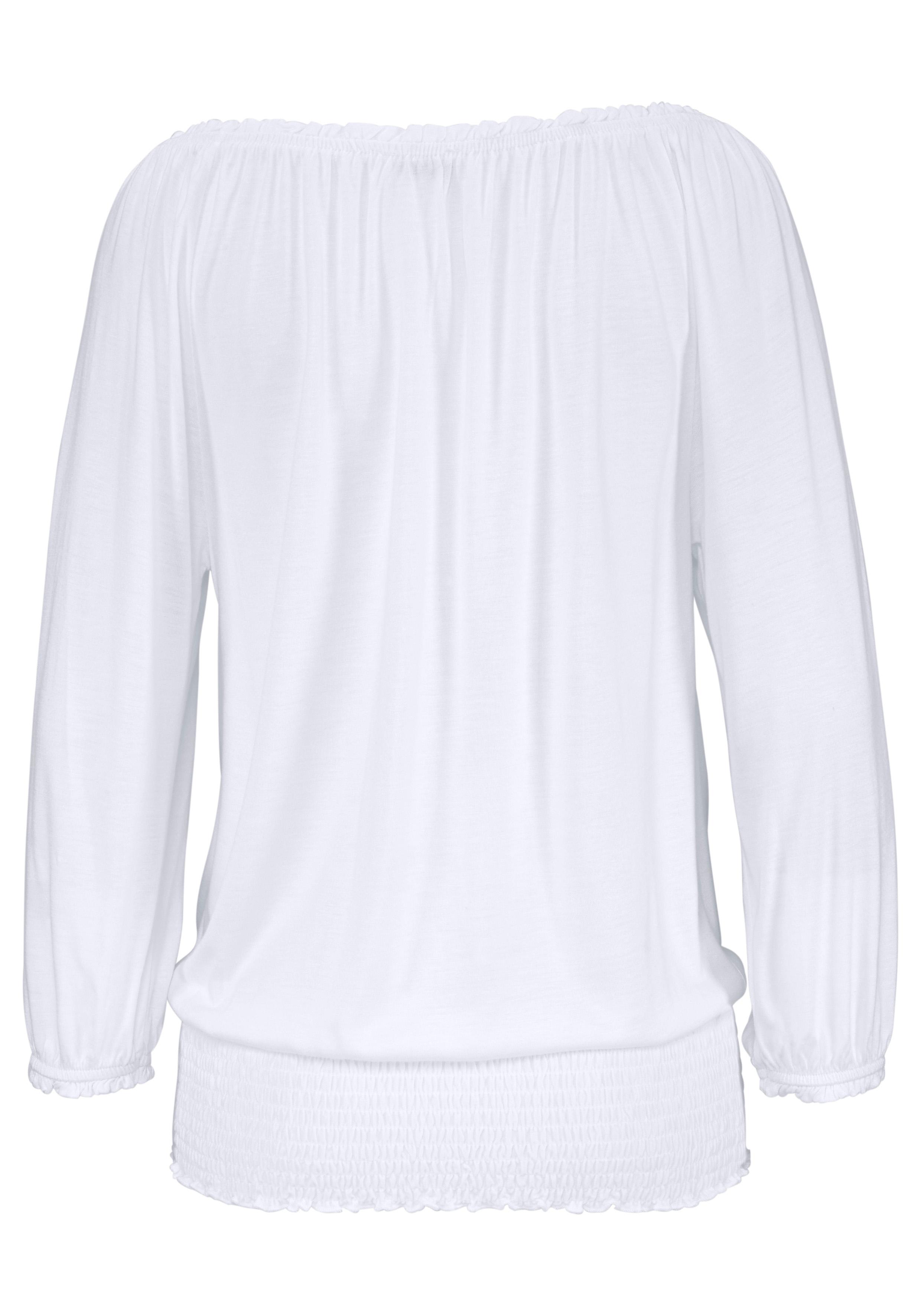 b5b8e0a3810353 Shirt met carmenhals