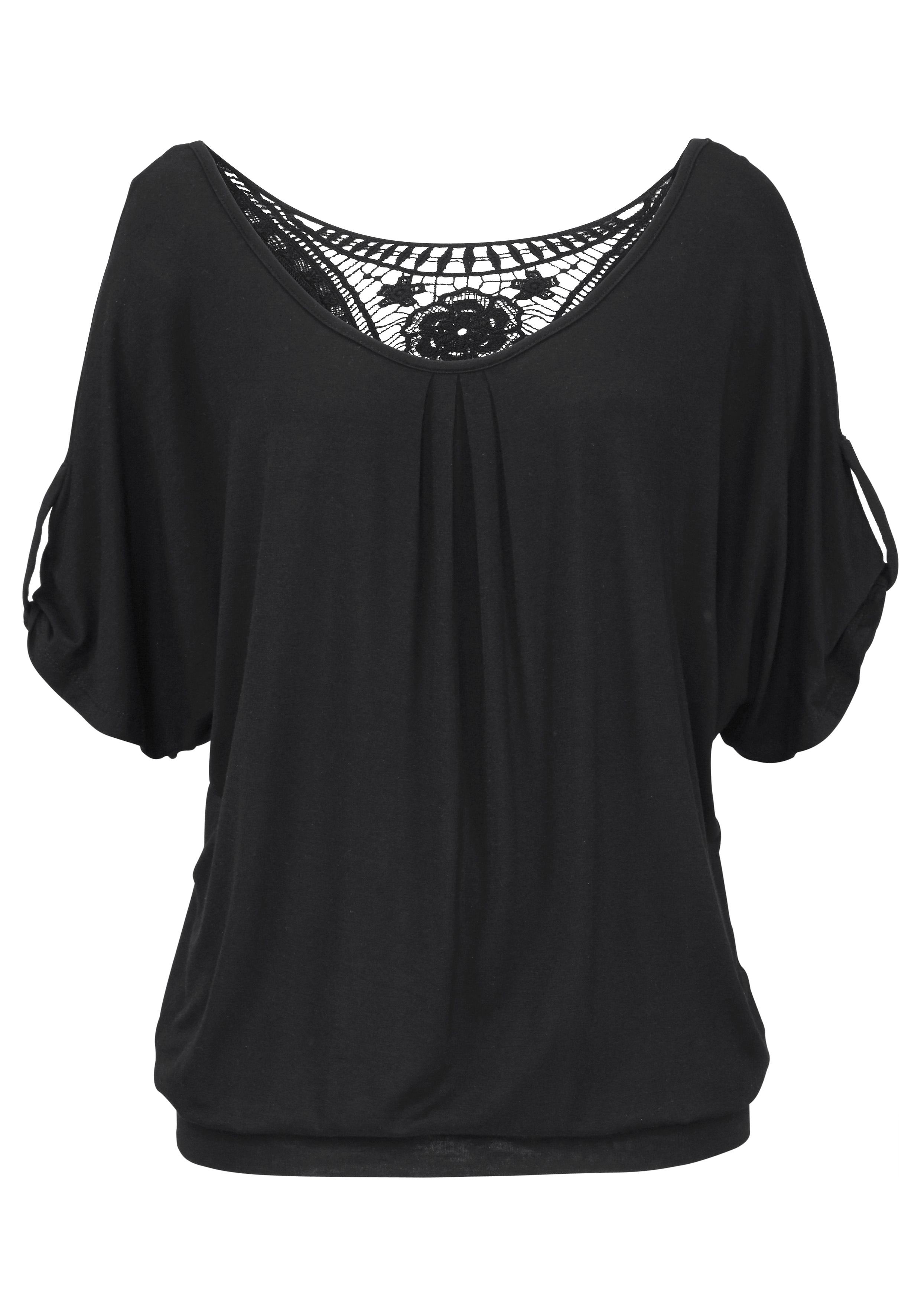 Lascana strandshirt met gehaakte inzet op de rug goedkoop op otto.nl kopen