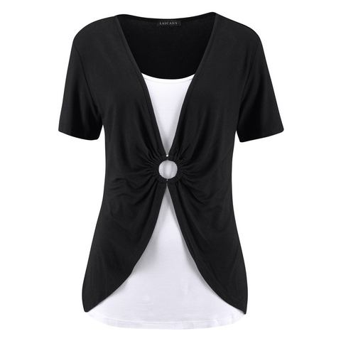 LASCANA Shirt met aanrimpeling voor