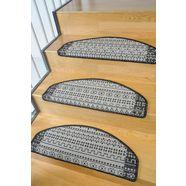 tredemat, living line, »elvet«, sisal-look, 15 stuks grijs
