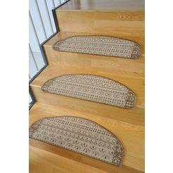 tredemat, living line, »elvet«, sisal-look, 15 stuks bruin