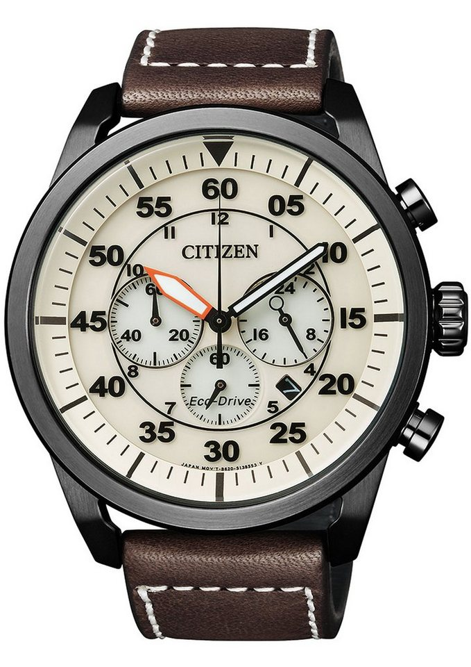 CITIZEN Chronograaf CA4215-04W met Eco-Drive
