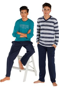 le jogger pyjama lang in set van 2 multicolor