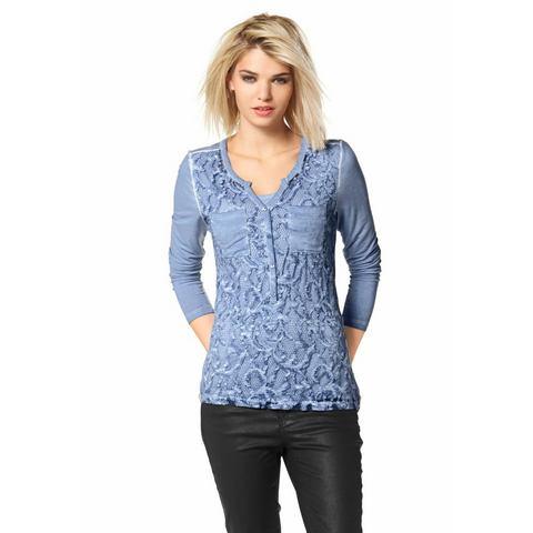 LAURA SCOTT 2-in-1-shirt met lange mouwen