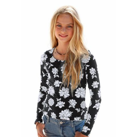 ARIZONA Shirt met lange mouwen en print allover